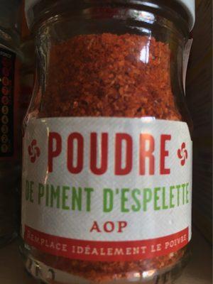 Poudre de piment d'espelette - Produit