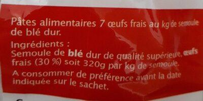 Pâtes d'Alsace - Ingredients