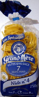Pâtes d'Alsace 7 Œufs Frais, Nids n°4 (Les Spécialités) - Produit