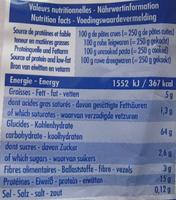 Pâtes d'Alsace 7 Œufs Frais, Nids n°4 (Les Spécialités) - Informations nutritionnelles
