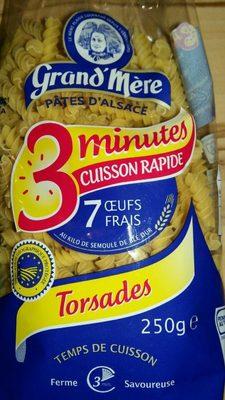 Pâtes d'Alsace  torsades 3 minutes 250gr - Product