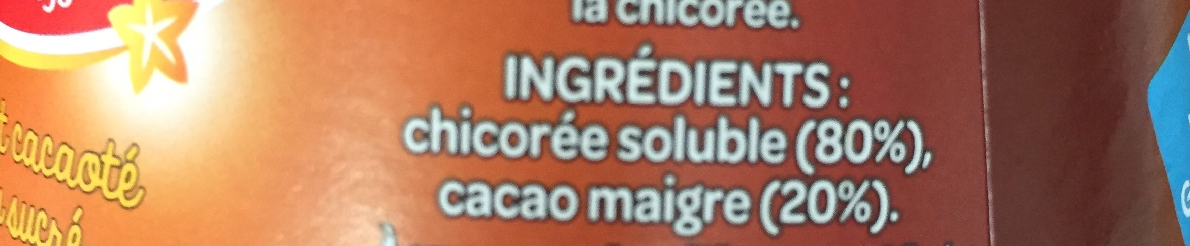 Chicoree soluble cacao 125g - Ingredients - fr