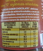 Chicoree soluble cacao 125g - Informació nutricional - fr