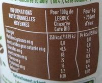 Préparation soluble Chicorée Café Bio - Informazioni nutrizionali - fr