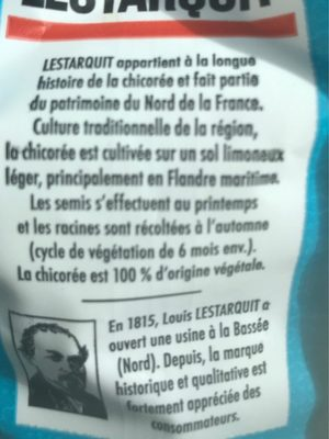 Chicoree 500G Lestarquit - Ingredients