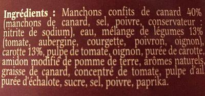 Delpeyrat Fricassée De Canard Petits Légumes Boîte 1.5kg - Ingredients - fr