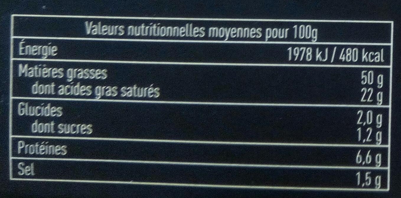 Bloc de foie gras de canard du Sud-Ouest avec morceaux - Voedingswaarden - fr