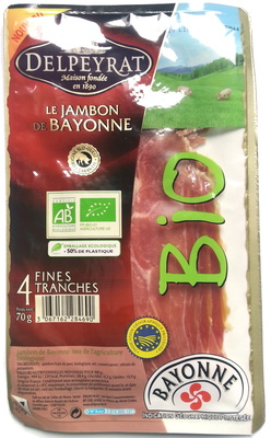 Jambon de Bayonne - 4 fines tranches - Product