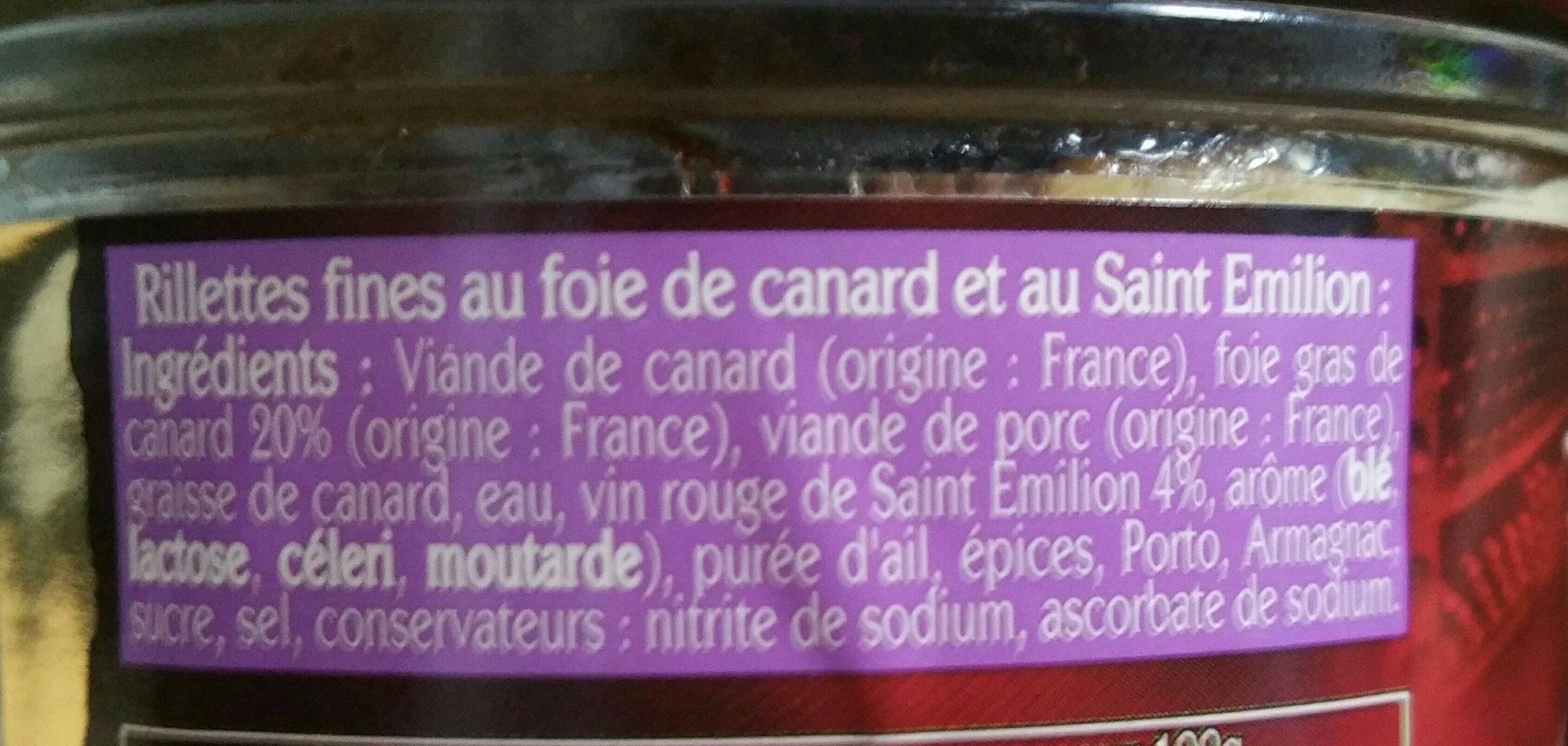 Rillettes fines et éclats de foie Delpeyrat 180G, 1 Bocal - Ingrédients