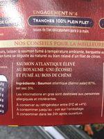 Delpeyrat saumon fume d'ecosse tranche - Ingrédients - fr