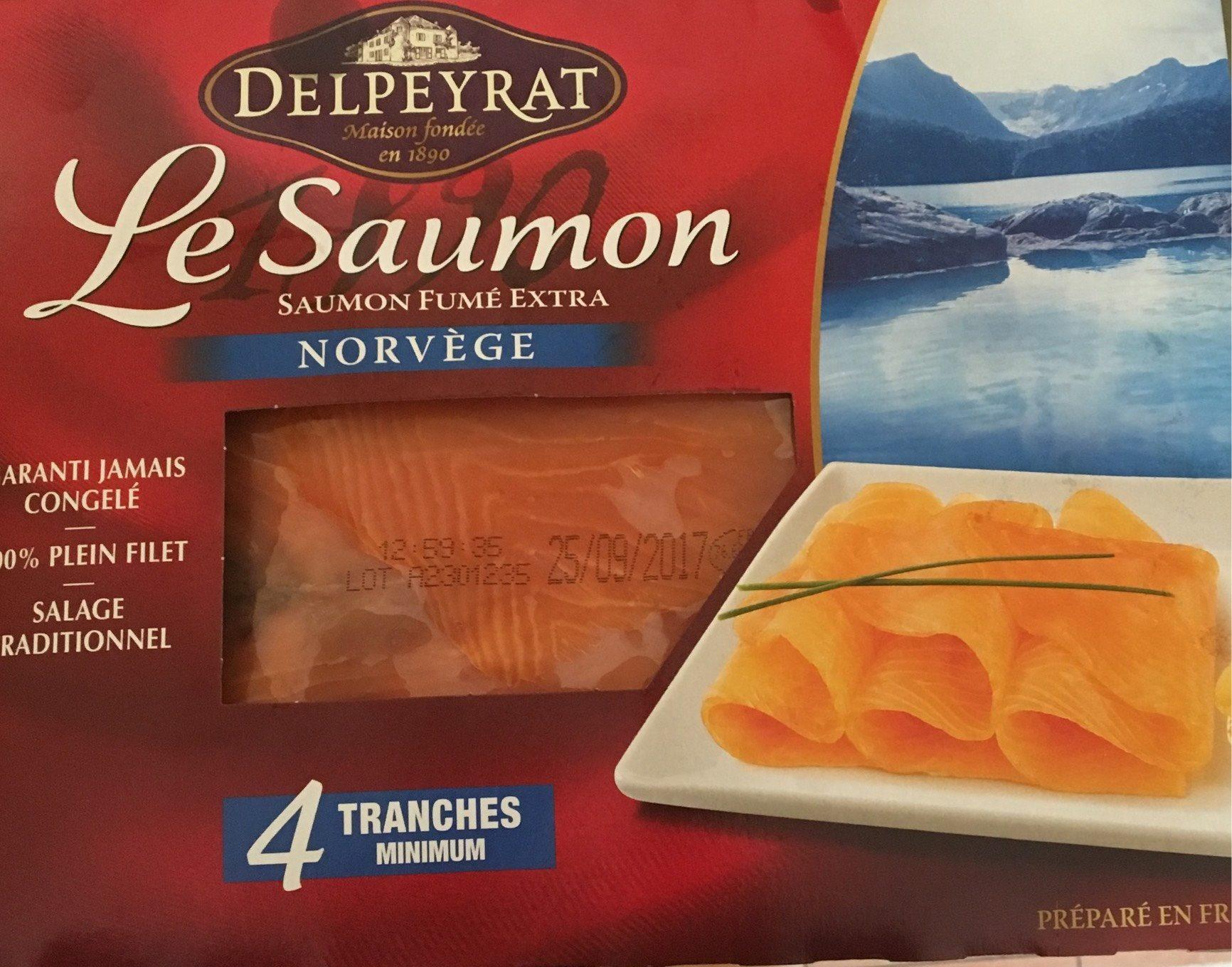 Saumon fumé Norvège x4 - Produit - fr
