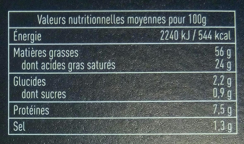 Foie Gras de Canard Entier du Sud-Ouest - Informations nutritionnelles - fr
