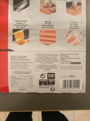 Saumon fumé extra Norvège - Informations nutritionnelles - fr