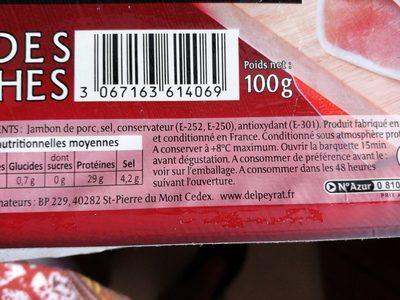 Jambon serrano - Ingredients - fr