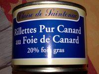 Rillettes Pur Canard au Foie de Canard (20% de foie gras) - Produit - fr