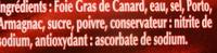 Classic, bloc de foie gras de canard - Ingrédients - fr