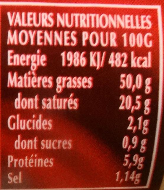 Classic, bloc de foie gras de canard - Informations nutritionnelles - fr
