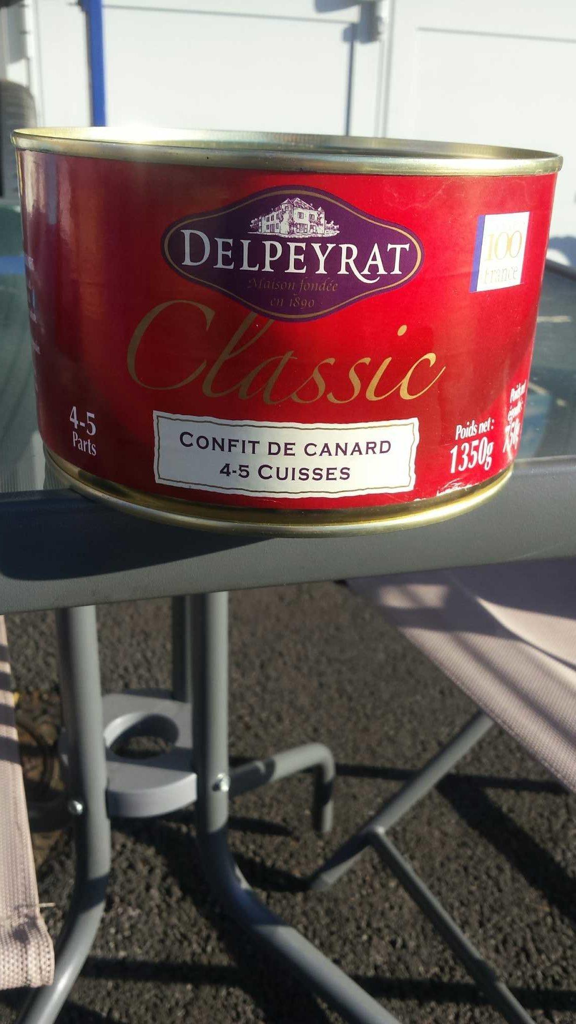 Confit de canard delpeyrat - Produit