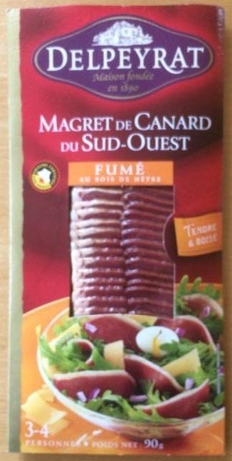 Magret de Canard du Sud-Ouest fumé au bois de hêtre - Produit