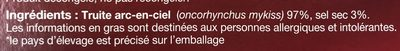 La Truite - Ingrediënten - fr
