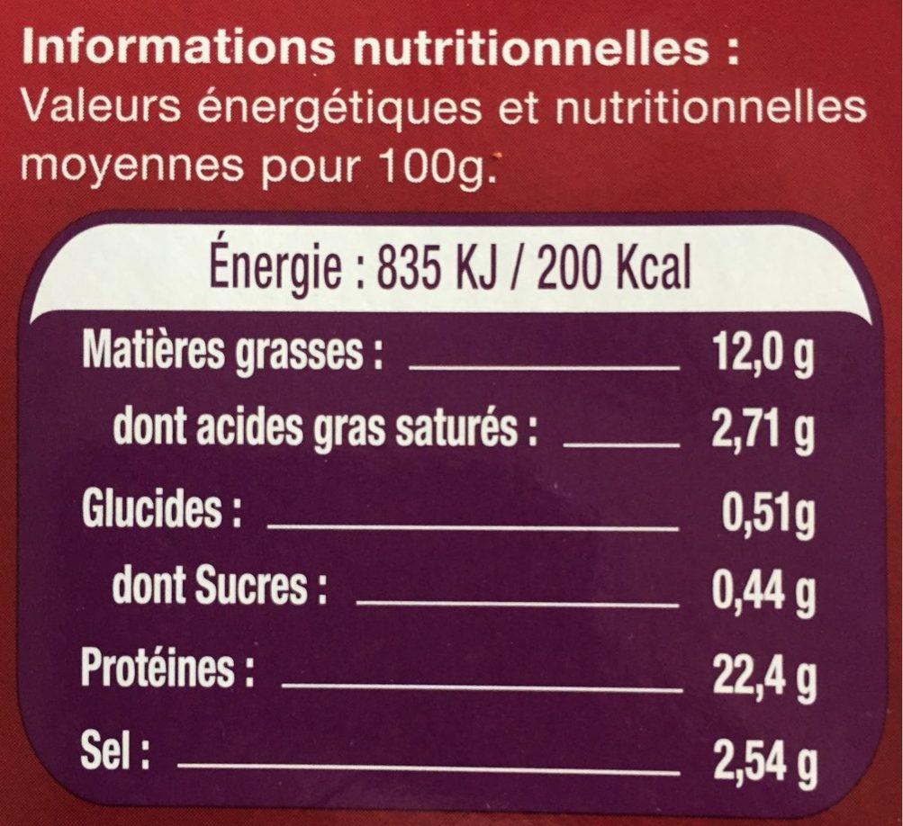 Le Saumon - Norvège - Informations nutritionnelles - fr