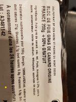 Bloc de foie gras de canard origine France - Ingrédients