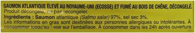 Le Saumon Écosse - Ingrediënten