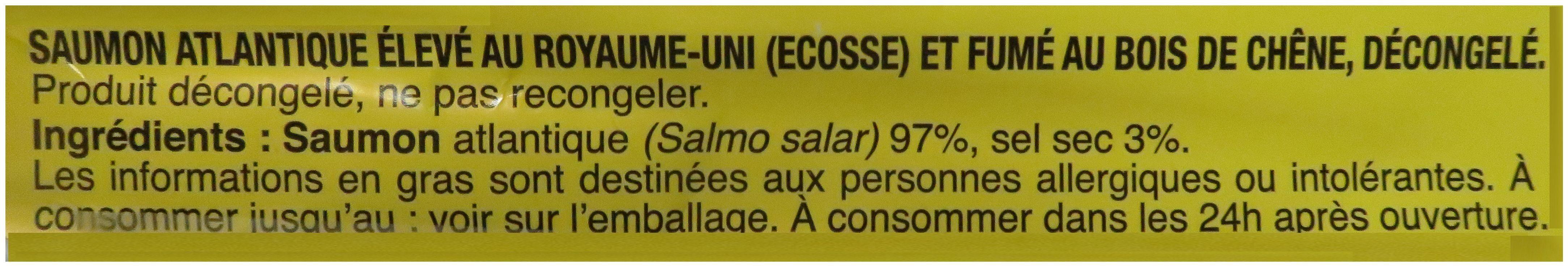 Le Saumon Écosse - Ingrediënten - fr