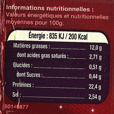 Le Saumon Écosse - Voedingswaarden - fr