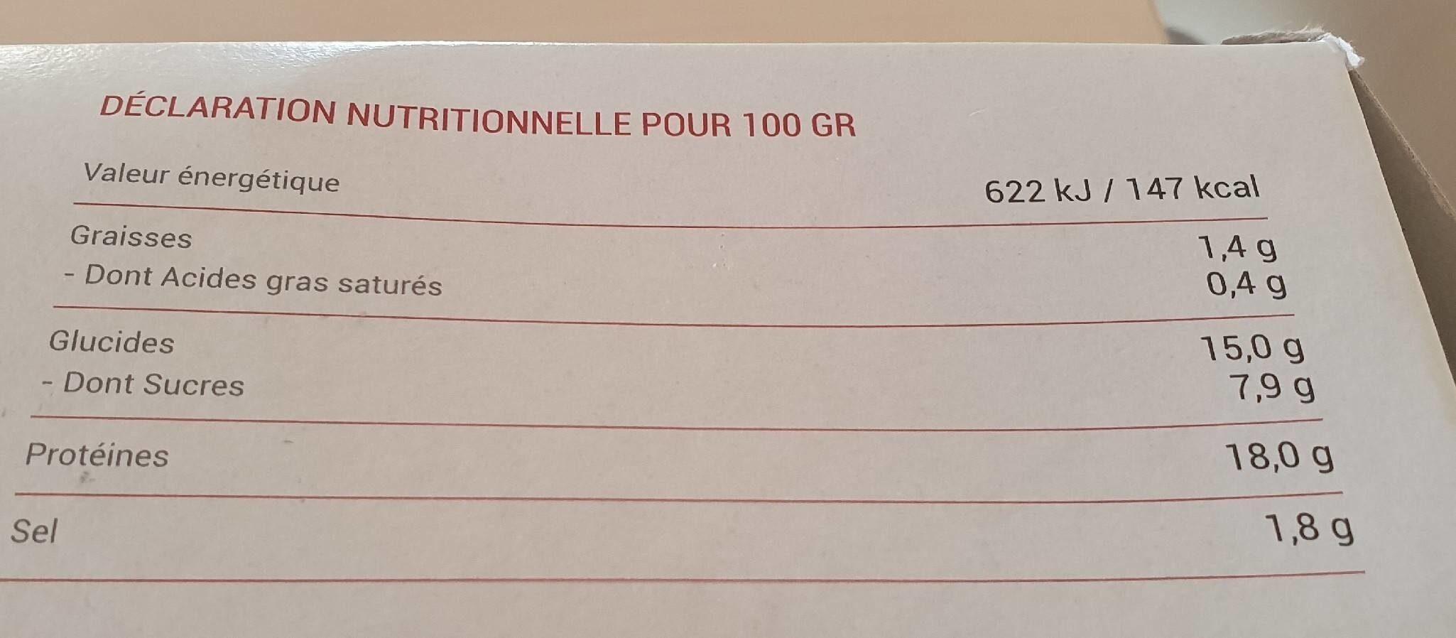 Brochette yakitori de poulet Marine cuit - Informations nutritionnelles