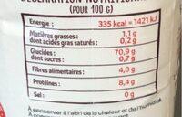 Farine de blé T45 - Informations nutritionnelles - fr
