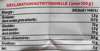 Farine de Blé Tous usages - Nutrition facts