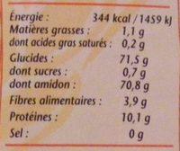 Farine de blé suprême - Nutrition facts