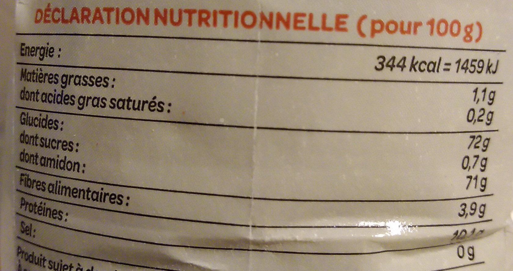 Farine de blé fluide L'originale T45 - Voedingswaarden - fr