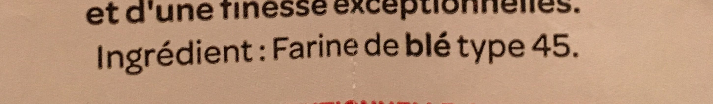 Farine de ble fluide PROMO : 25% - Ingrédients