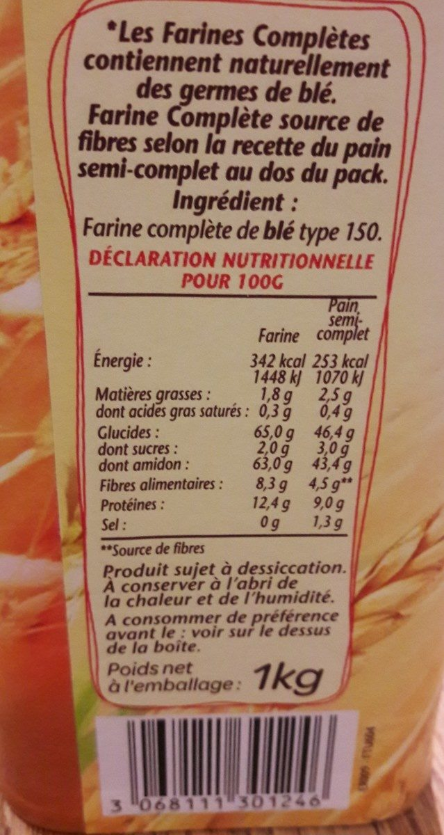 FARINE COMPLETE - Ingrédients - fr