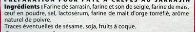 Mes crêpes au sarrasin - Ingrediënten
