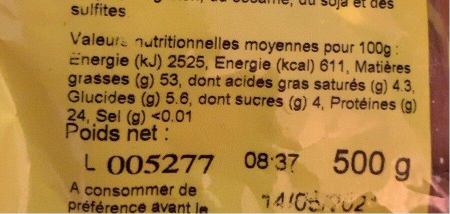 Amandes - Nutrition facts - fr
