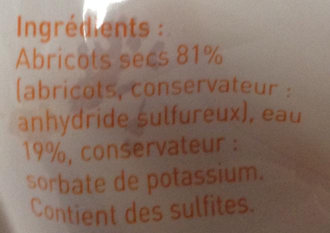 Abricots fondants - Ingrédients - fr