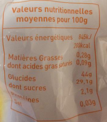 Abricots fondants - Informations nutritionnelles - fr