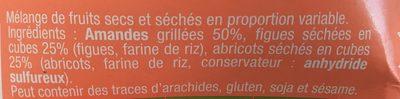 Cup Amandes, Figues, Abricots - Ingrédients