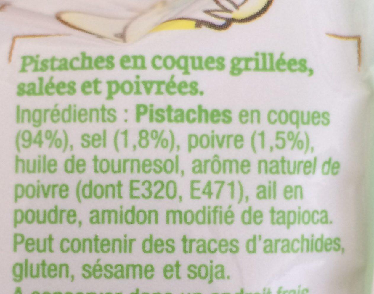 Pistaches grillées sel et poivre - Ingrediënten - fr