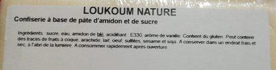 Loukoum nature - Ingredients