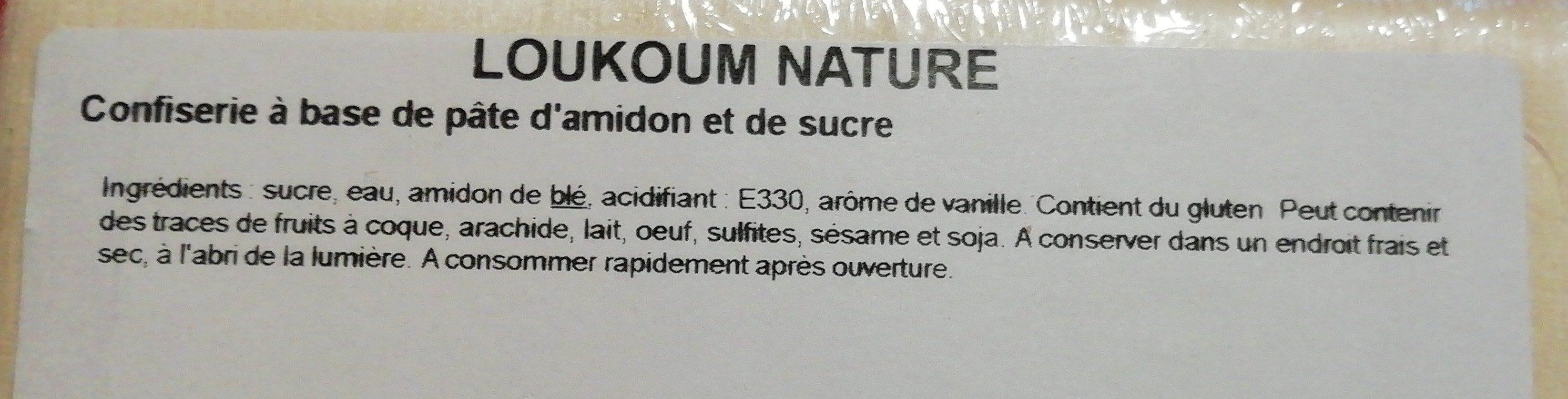 Loukoum nature - Ingredients - fr
