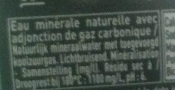 Badoit - Ingredients - fr