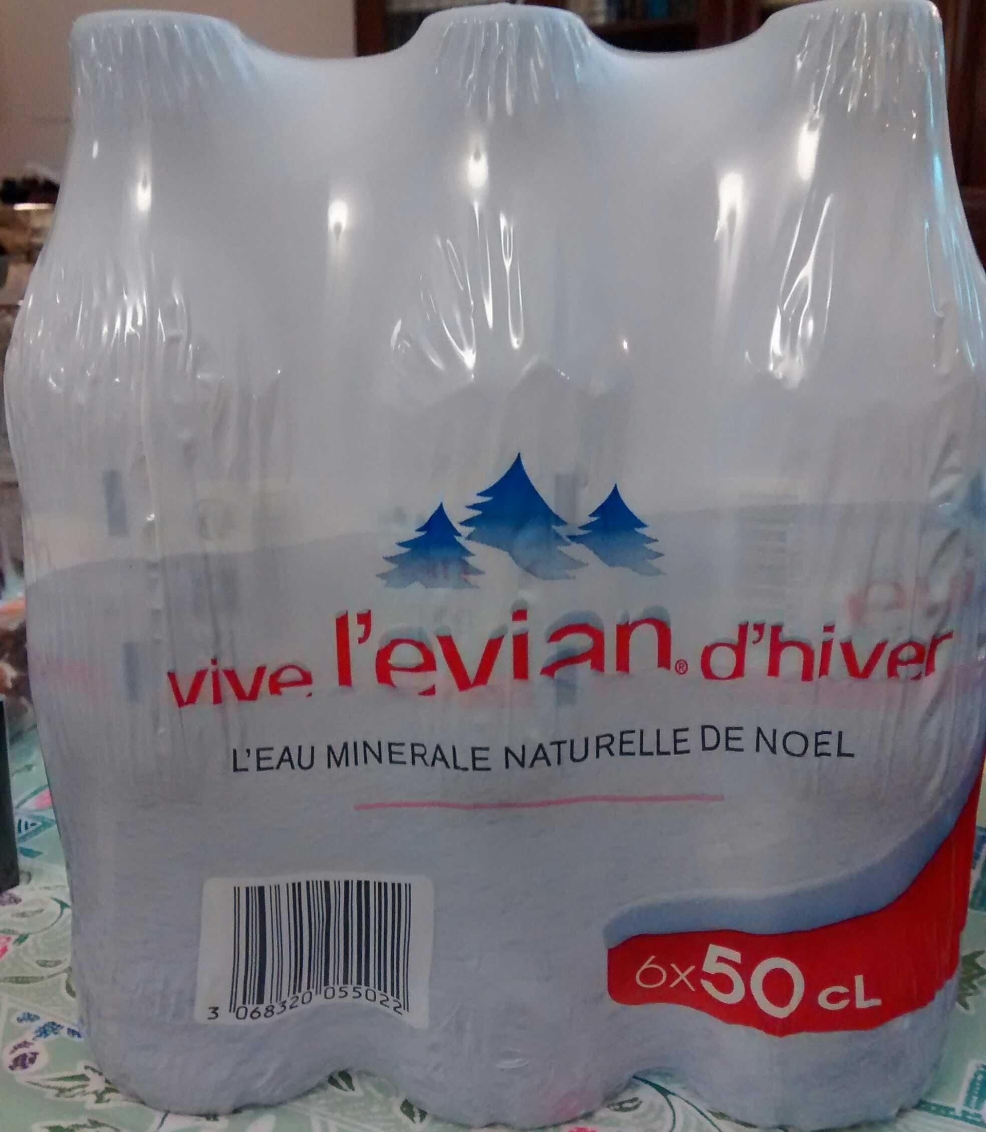 Pack de 6 bouteilles d'eau minérale naturelle de Noël (6 x 50cl) - Product