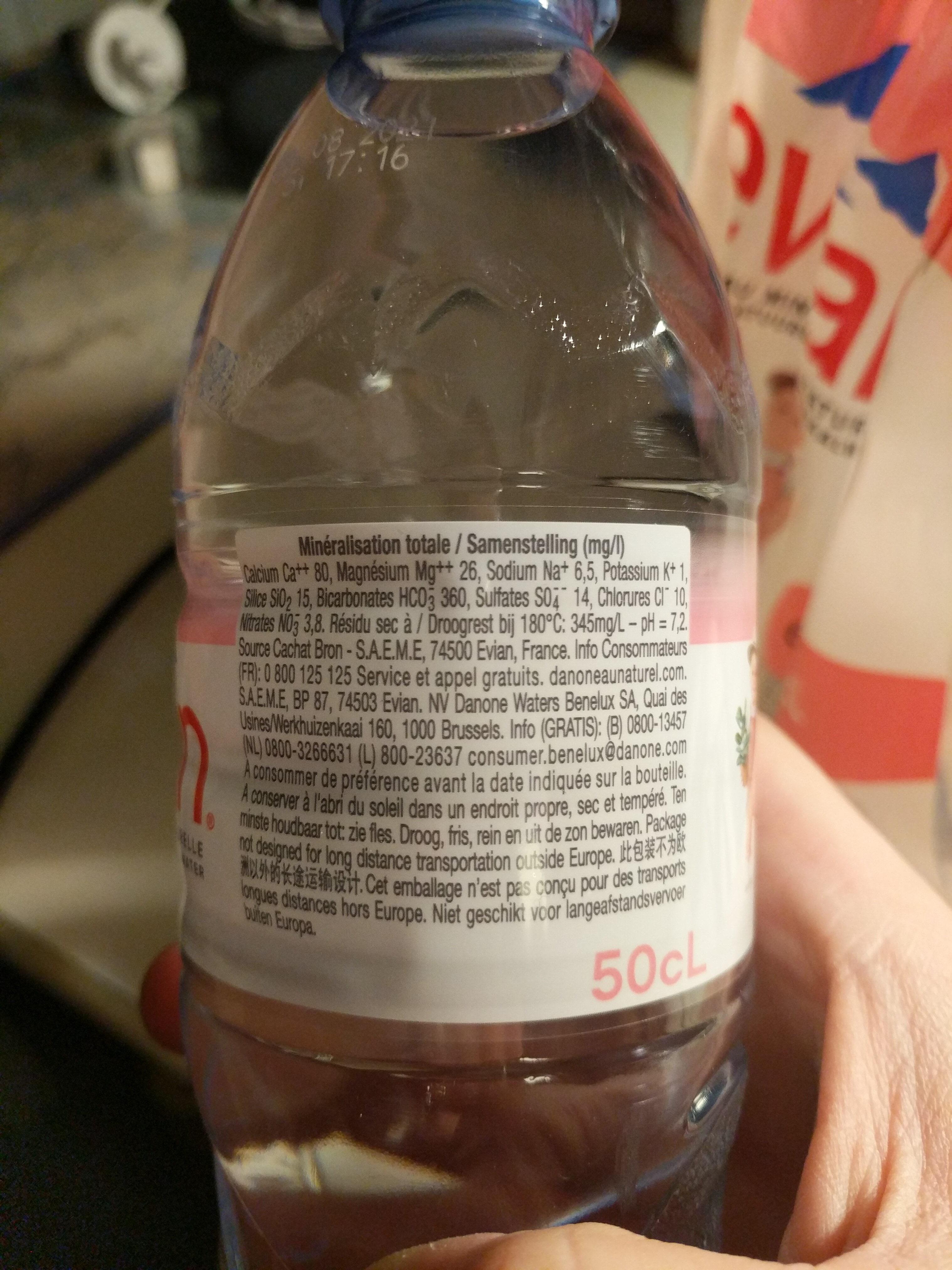 Pack de 6 bouteilles d'eau minérale naturelle de Noël (6 x 50cl) - Informations nutritionnelles - fr