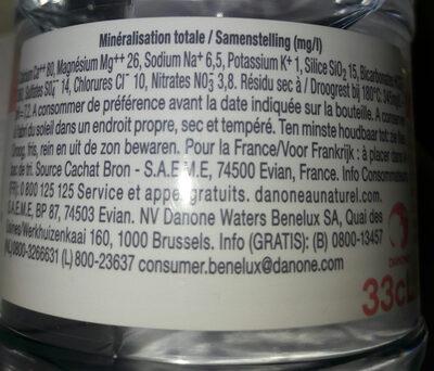 Evian 33cl - Recyclinginstructies en / of verpakkingsinformatie - fr
