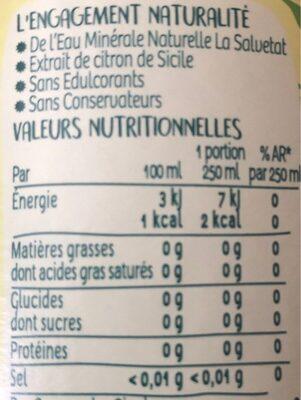 Citron de Méditerranée - Informations nutritionnelles - fr