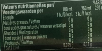 Badoit Zest Citron - Valori nutrizionali - fr